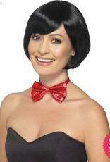 Smiffys Red Sequin Bowtie