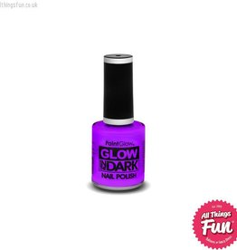 Smiffys Glow in the Dark Violet Nail Polish