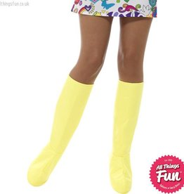 Smiffys GoGo Yellow Boot Covers