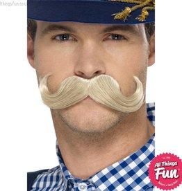 Smiffys Authentic Bavarian Oktoberfest Blonde Moustache