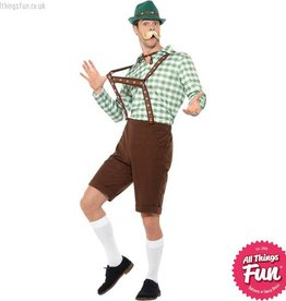 Smiffys Green & Brown Alpine Bavarian Costume