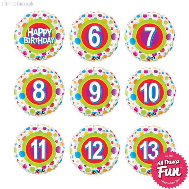 Colourful Dots Birthday Classic (Ages 6 to 13)