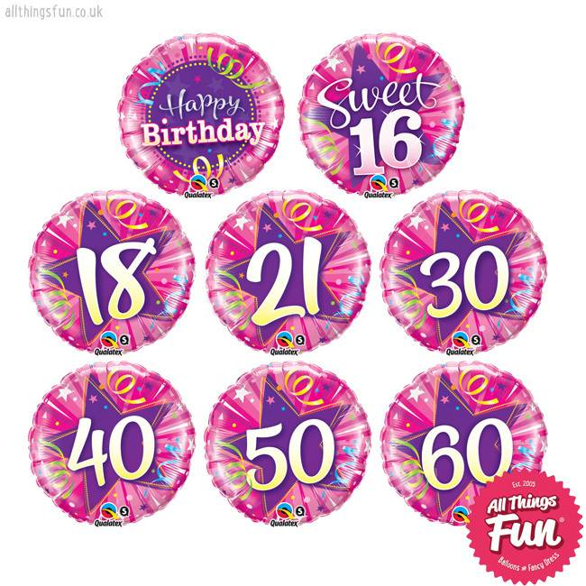 Birthday Shining Star Pink Classic (Ages 16th to 60th)