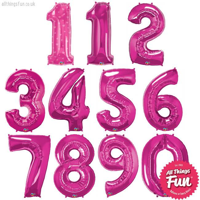 Number Birthday Girl Luxury (Ages 1 to 9)