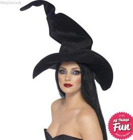 Smiffys Black Tall & Twisty Witch's Hat