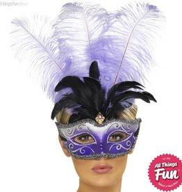 Smiffys Venetian Colombina Purple Eyemask