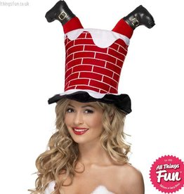 Smiffys Santa Stuck in Chimney Hat
