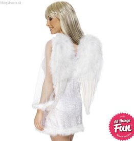Smiffys White Feathered Angel Wings