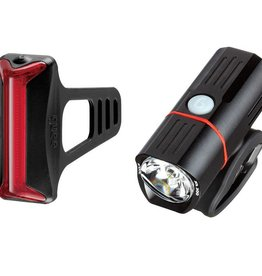Guee Guee - SOL 300 headlight +COB-X Red light Set Black
