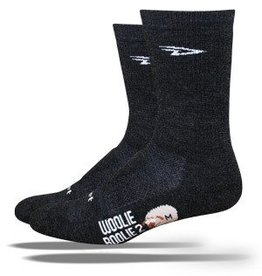 """DE FEET Defeet Woolie Boolie 2 with 6"""" Cuff in Charcoal"""