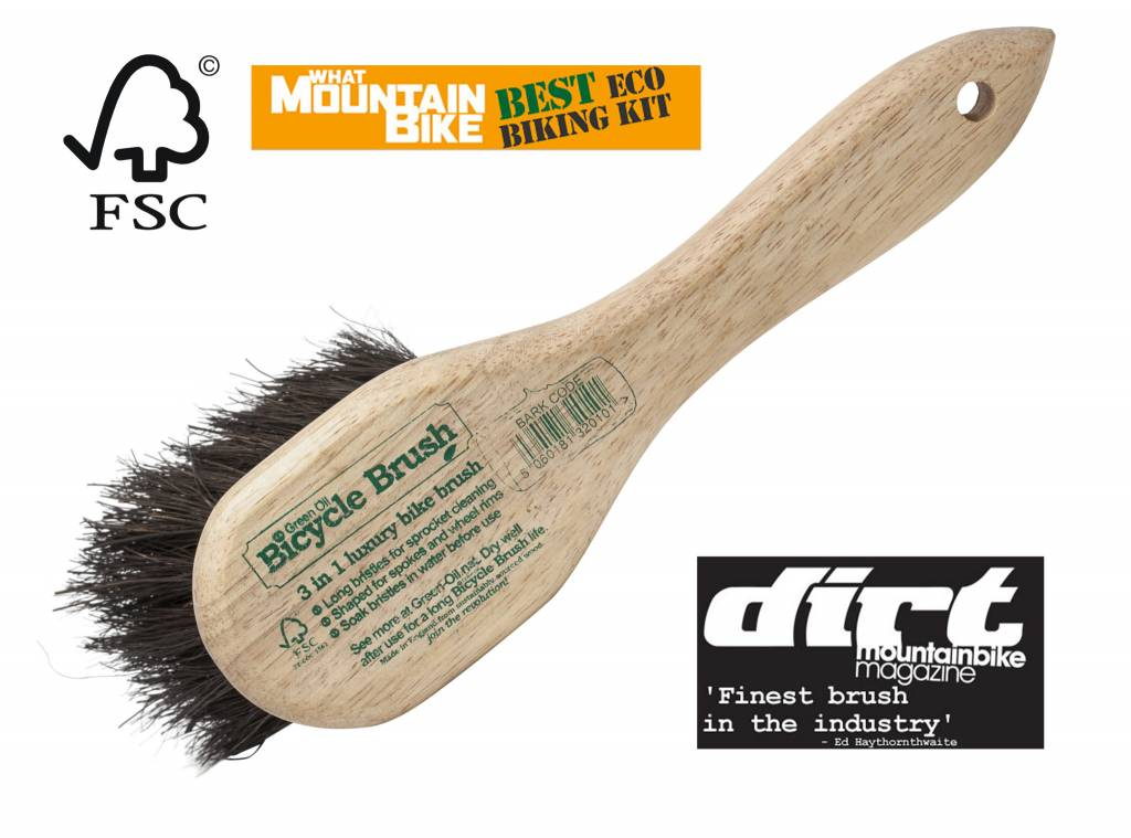 Green Oil Bicycle Brush