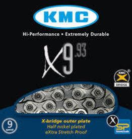 KMC X9-93 Sil/Grey Chain 116L