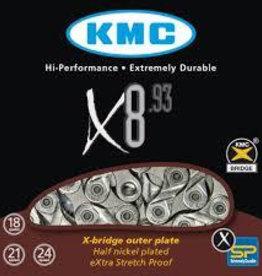 KMC X8-93 Sil/Grey Chain 116L