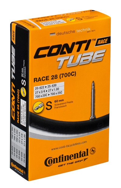 CONTINENTAL Inner Tube - Race 28 (700 x 20 - 25C) Presta 42mm