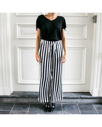 Anine Bing AB July  Striped Satin Pajama Pants