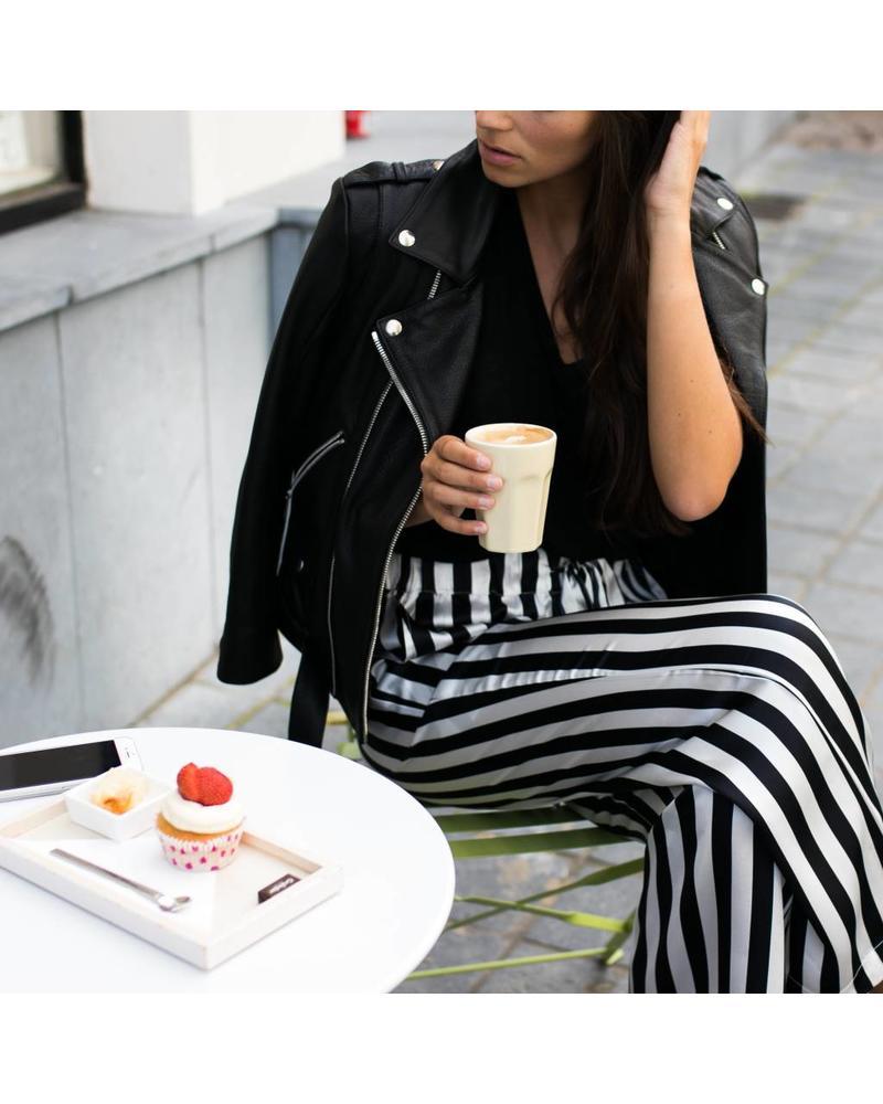 Anine Bing Striped Satin Pajama Pants