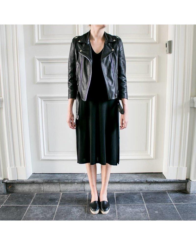Anine Bing AB Deep V-Tshirt dress