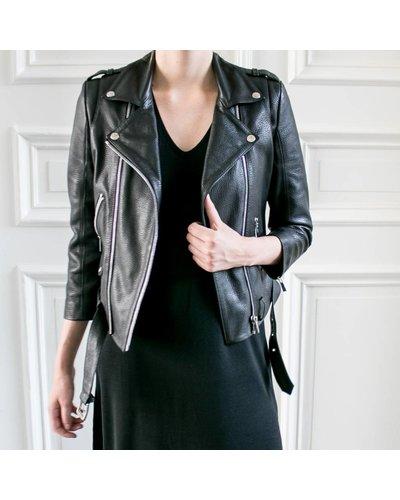 Anine Bing Cropped Moto Jacket