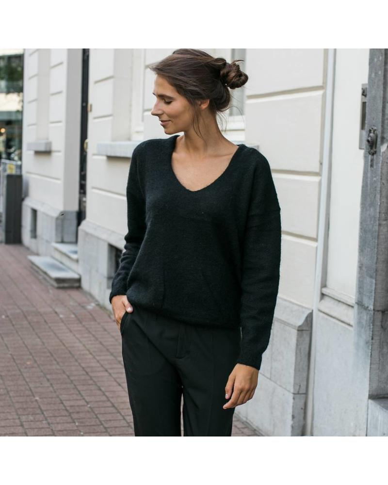 Liv The Label Tracy deep V in Mohair