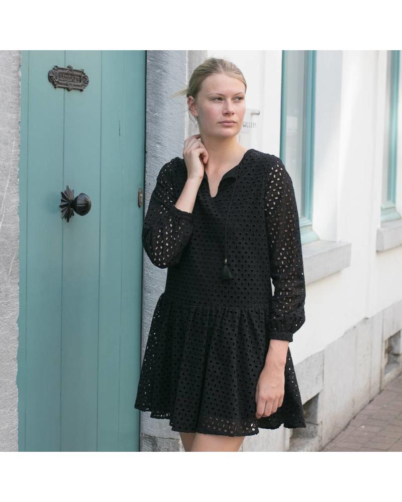 Anine Bing Longsleeve Eyelet Dress