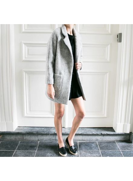 Liv The Label Janis Coat wool - Light Grey