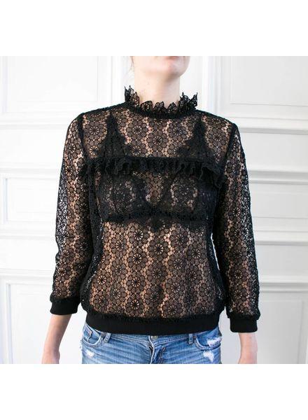 Anine Bing Lace sweatshirt - Black