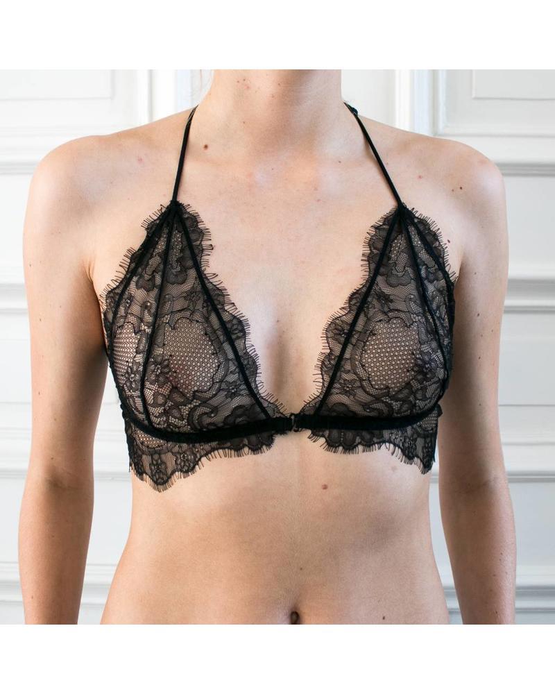 Anine Bing Lace back detail bra - Black
