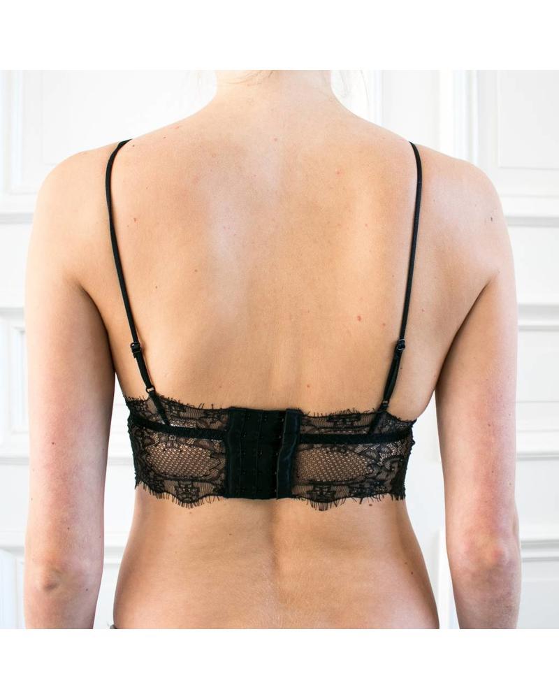 Anine Bing Lace bralette - Black