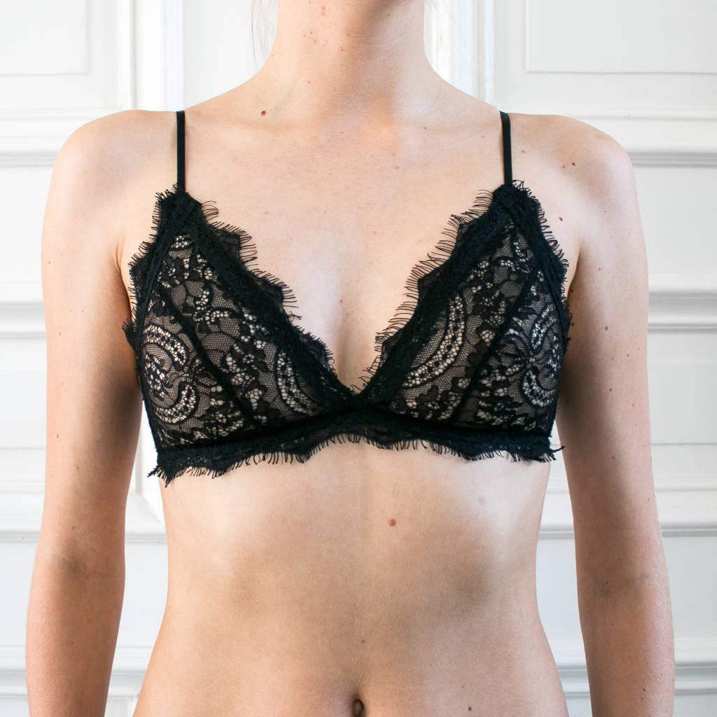 Sale Perfect Quality Free Shipping Low Price Lace Bra With Trim in Black. - size M (also in S) Anine Bing Cheap Sale Buy Cheap Many Kinds Of r3Rl07xj