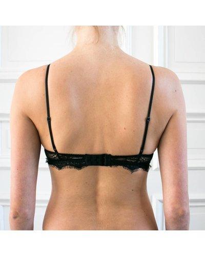 Anine Bing Lace Bra with Trim - Black
