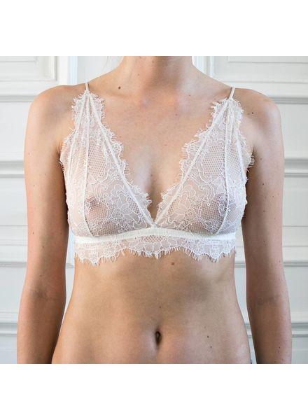 Anine Bing Delicate Lace Bra - Nude