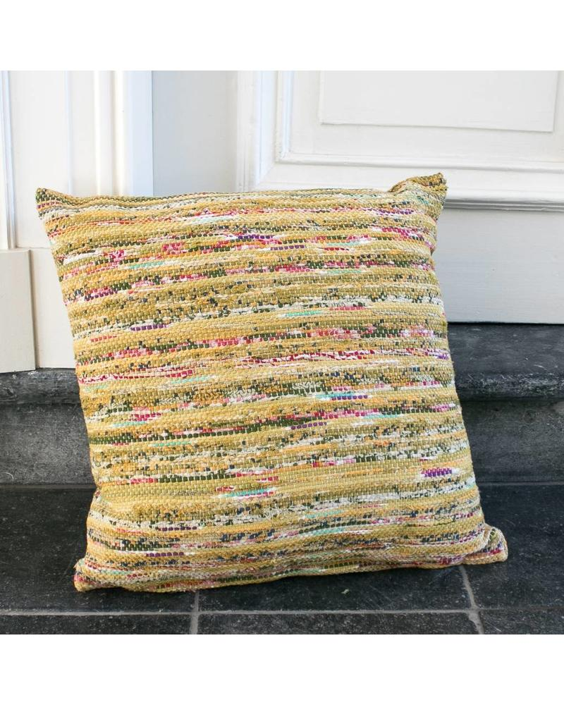 Just Julia Pillow Small - Green / red stripe