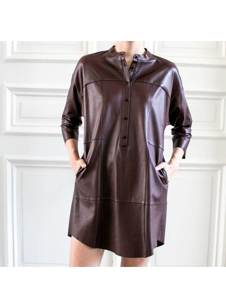 SET Leather dress - Bordeaux