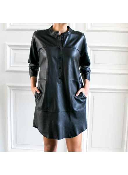 SET Leather dress - Black