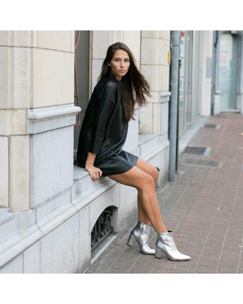 SET Leather dress - Black