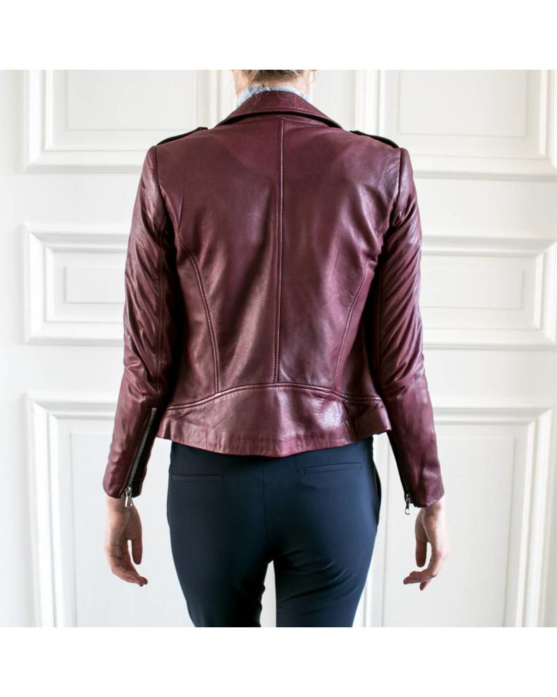 SET Leather Jacket - Bordeaux