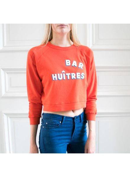Clare V Bar Huîtres sweatshirt Orange