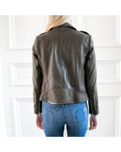 SET Leather Jacket - Khaki