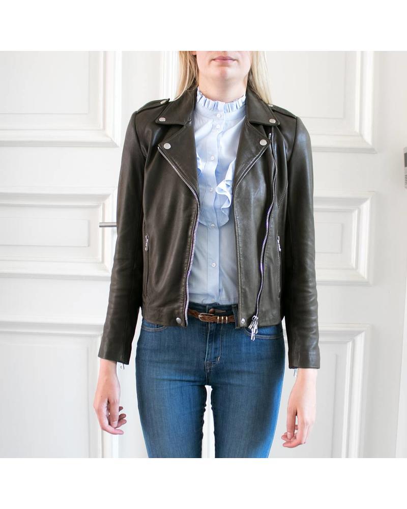 SET Leather Jacket - Khaki