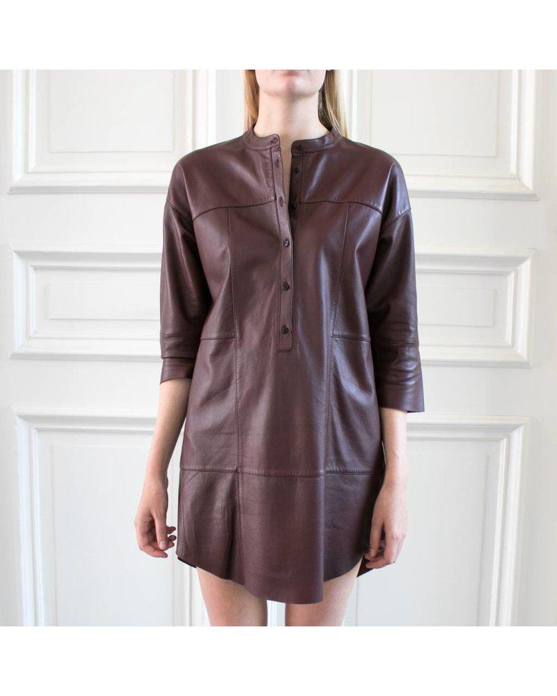 SET Leather dress - Bordeaux