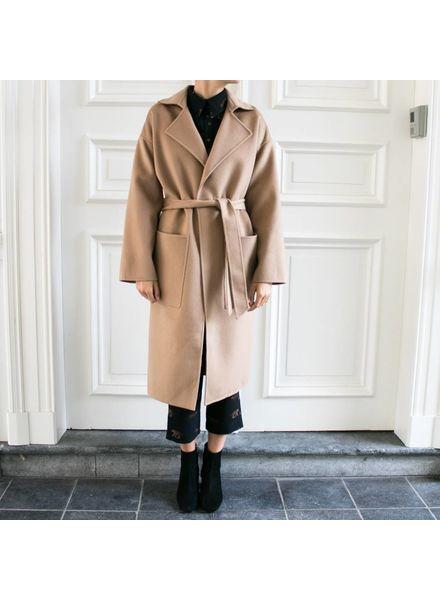 Nanushka Eter coat - Camel