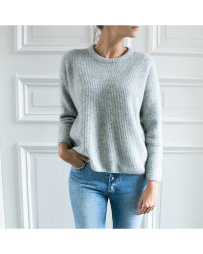 CT Plage Knitted racoon pullover - Light grey