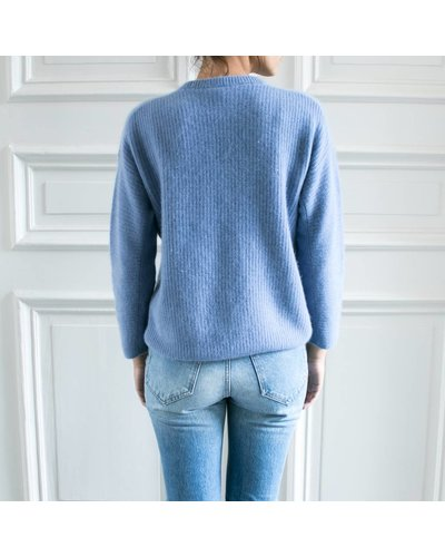 CT Plage Knitted racoon pullover - Light Blue