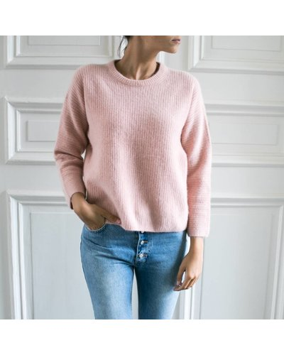 CT Plage Knitted racoon pullover - Pink