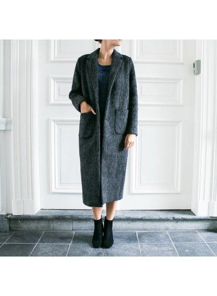 Liv The Label Holly maxi coat - Dark Grey