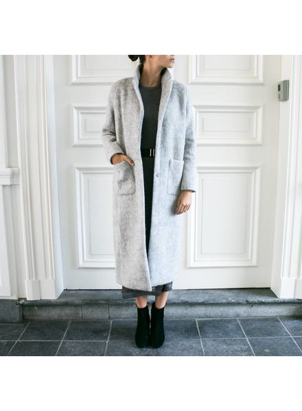 Liv The Label Holly Coat - Light Grey