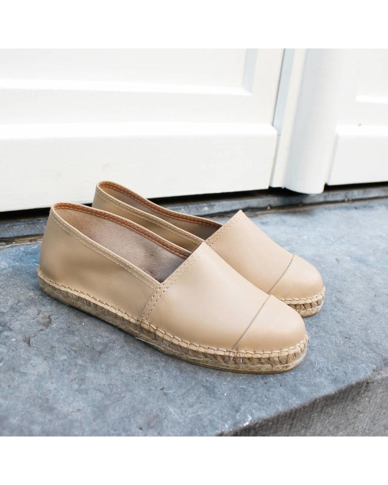 N°8 Antwerp Leather flat - Piedra