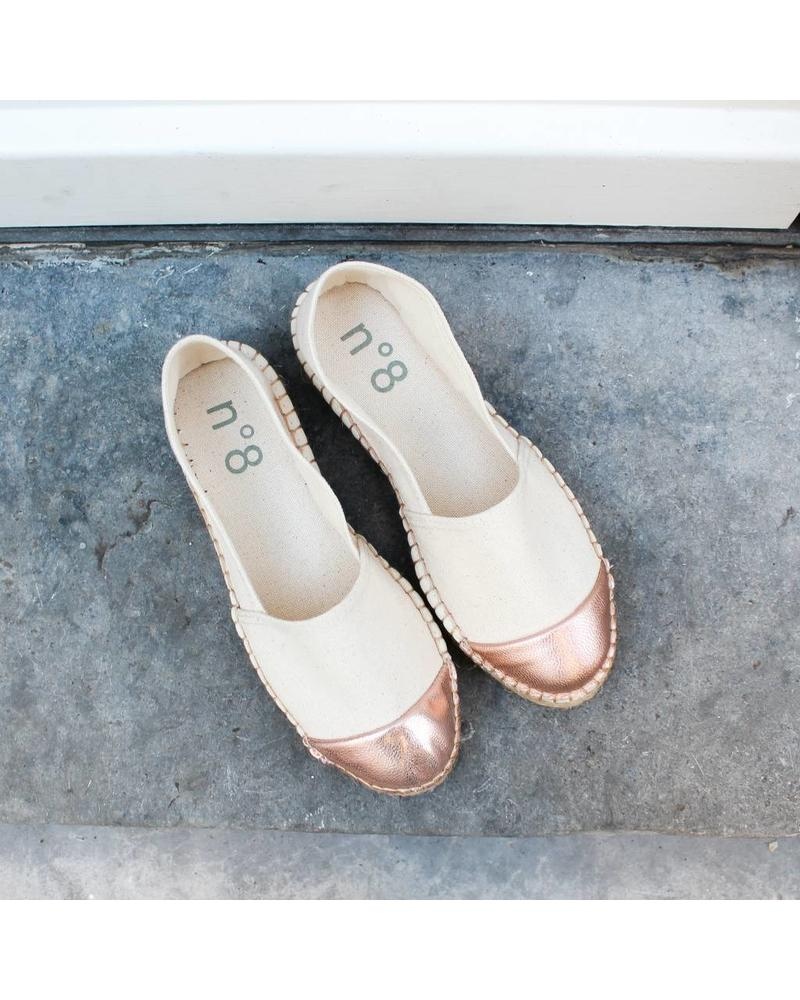 N°8 Antwerp Canvas flat - Salmon/crudo