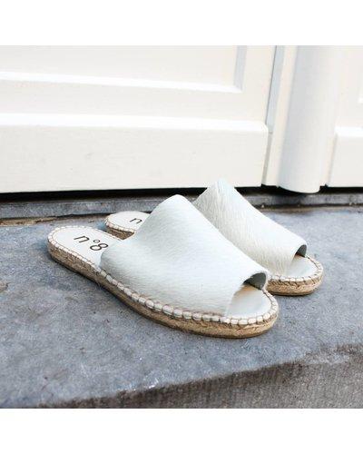 N°8 Antwerp Pony sandal - White