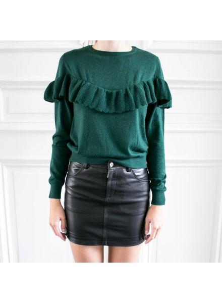 Anine Bing Cashmere ruffle knit - Emerald